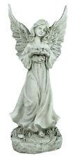 Engelsfigur mit Taube als Friedenssymbol Deko-Engel Friedensengel Grabschmuck