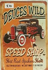 Dueces Wild Metal Tin Signs Bar Shed & Man Cave Signs AU Seller