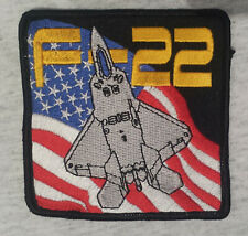 F 22 US AIR FORCE US NAVY US MARINES Patch Aufnäher Airborne Aircraft MILITARY10