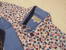 "TED BAKER Mens Shirt 🌍 Size 16"" (44"" CHEST) 🌎 RRP £110+ 📮FANTASTICALLY FLORAL"