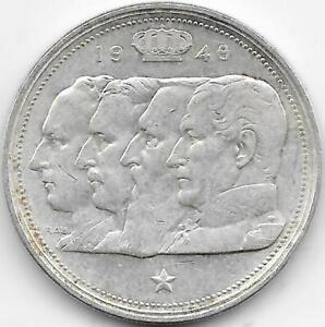 100 Francos Belgica 1948 PLATA