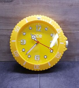 ICE Yellow Silent Sweep Movement Wall Mounted Clock - Retro Fully Tested