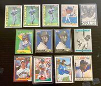Ken Griffey Jr. Card Lot w/ 1989 Score, Bowman, Topps Debut, 1990 Fleer Inserts+