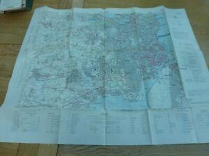 1974 ORIGINAL DANISH ARMY MAP COPENHAGEN 1:50,000