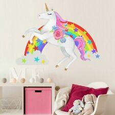 Good Unicorn Wall Stickers Rainbow Wall Art Kids Girls Bedroom Stars LuGuo