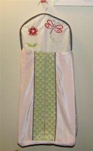 Kidsline Pink Black Gingham Green Dragonfly Ladybug Flower Diaper Stacker
