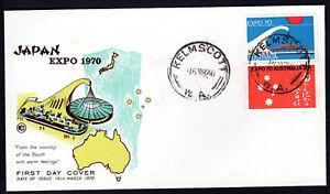 1970 Osaka Japan Expo Australia on WCS Wesley FDC Cover Unaddressed