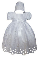 Girl Baby Infant Toddler Girl Christening Baptism Formal Gown Dress 0-30 months