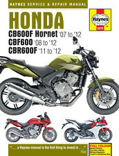 5572 Haynes Honda CB600 Hornet, CBF600 & CBR600F 2007 - 2012 Workshop Manual