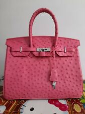 PINK Handmade Belly Ostrich Skin Women's Handbag Bag Crossbody-any size, colors