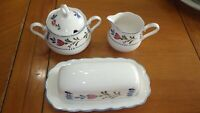 Avondale Butter Dish Creamer and sugar bowl set Excellent condition By Nikko