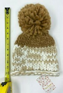 FREE PEOPLE Cozy Up Color Blocked Beanie - Color:  Oat/Camel - 1 Size - Nw/TAGS