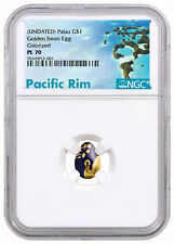 (2018) Palau Golden Swan Egg 1/2 g Gold $1 Coin NGC PL70 Exclusive SKU51845