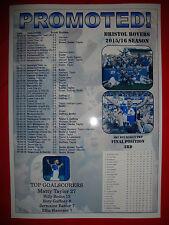Bristol Rovers League Two promotion 2016 - souvenir print