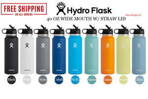 """""""FREESHIPPING"""" HYDRO FLASK 40 OZ WIDE MOUTH STRAW LID (FULL COLOR)"""