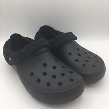 Crocs Black Fleece Lined Classic Clogs Women's 11/Men's 9