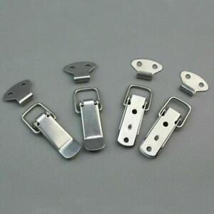 new 4pcs Steel Spring Draw Toggle Latch Catch for Cases Boxes Chests