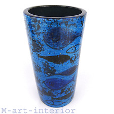 Aldo Londi / Bitossi Pesce Fish Vase Rimini Blue Series Italian Mid Century 60´s