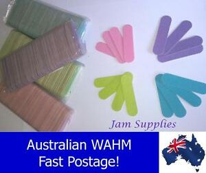 6cm Mini Nail Files - Lime, Blue, Purple, or Pink lots of 20, 50, & 100