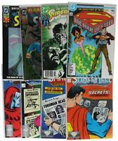 LOT Of 8 VTG 80s 90s SUPERMAN & SMALLVILLE COMIC BOOKS Man of Steel DC Superhero