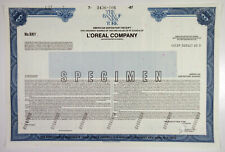 France. L'oreal Co. 1987 Specimen ADR Stock Cert unc ABN