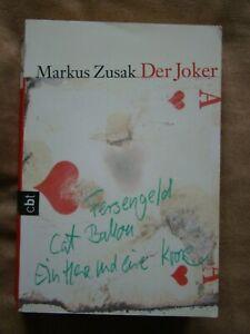 Markus Zusak Der Joker 978-3-570-30539-3 toller Roman Jugendliteraturpreis topp