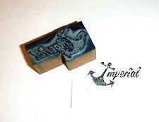 Antique Letterpress Printing Printer Block Press Wood Steel Anchorimperial