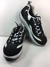 Skechers Shape Ups 8.5 Strength Fitness Walking Sneaker Shoes Black White 11809