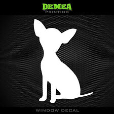 """Chihuahua - Dog - Style 1 - 5"""" Vinyl Sticker/Decal - Choose Color"""