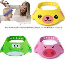 Baby Kids Shampoo Bath Bathing Shower Cap Hat Wash Hair Shield Pink Color
