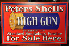 Repro Peters High Gun Shells Sold Here Standing Advertising Die Cut
