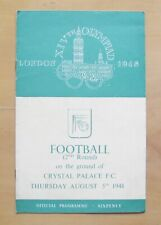 More details for 1948 london olympics football korea v sweden @ crystal palace exc cond programme