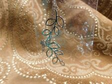 Necklace Fashion Silver Chain Crossover Leaves NEW VERY CUTE 19-21