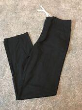 Mens M&s Trousers W 44 L 35 Long Black Linen Blend Casual