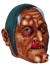 OLD WITCH LATEX SCARY HEAD MASK HALLOWEEN HORROR FUN