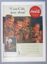 10x13.5  Original 1942 Coca Cola Ad COCA COLA ... GOES ALONG