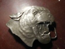 Vintage 1977 Dog Cougar Panther Brass Bergamot  Belt Buckle Retro