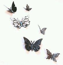 14 Metall Schmetterlinge Bronze Wanddeko Wandtattoos Wandobjekte Deko Geschenk