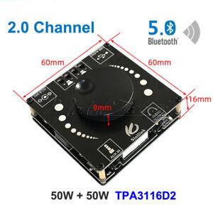TPA3116D2 HIFI AUX USB Bluetooth5.0 Audio Stereo 50Wx2 Digital Amplifier Board