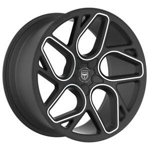 4 GWG BREMEN 20 inch Satin Black Machined Rims fits FORD TAURUS SHO 2010 - 2018