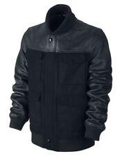 $550 Nike BB51 Destroyer Leather Wool Bomber Jacket 485059-010 Medium Varsity