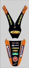 KTM EXC SX 1998 2003 FENDER MUDGUARD  DECALS GRAPHICS STICKERS.