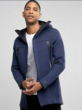 Nike Tech Fleece Parka Jacket Sz  S - Obsidian Heather Black 805142 473