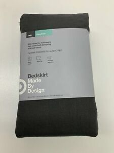 NEW Solid Bed Skirt Twin Dark Gray MADE BY DESIGN