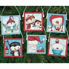 Counted Cross Stitch Kit  FROSTY FRIENDS ORNAMENTS Christmas Dimensions