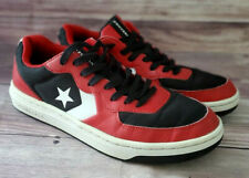 Converse Mens Sneakers Size 8 Rival Ox Black Red