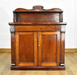 Antique Victorian chiffonier sideboard - side cabinet / cupboard
