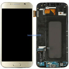 For Samsung Galaxy S6 G920F Amoled LCD Display Touch Screen Digitizer+Frame Gold