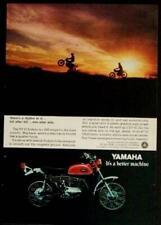 1970 Yamaha DT-1C Enduro 250cc Motorcycle original Full page Ad