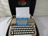 Vintage Smith Corona Super Sterling Typewriter Portable with Hard Case *Works*